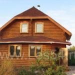 Дачный дом в п. Бурмистрово Искитимского района из оцилиндрованного бревна д. 220 мм