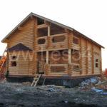 """Жилой дом в СНТ """"Бердь"""" из оцилиндрованного бревна д. 240 мм"""