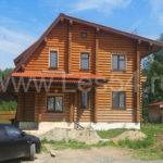 Жилой дом из оцилиндрованного бревна д. 260 мм
