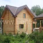 """Дачный дом в СНТ """"Экспериментатор 1"""" из оцилиндрованного бревна д. 220 мм"""