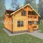 Жилой дом из оцилиндрованного бревна д. 240 мм