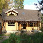 Жилой дом из профилированного бруса (кедр) сечением 190х190 мм