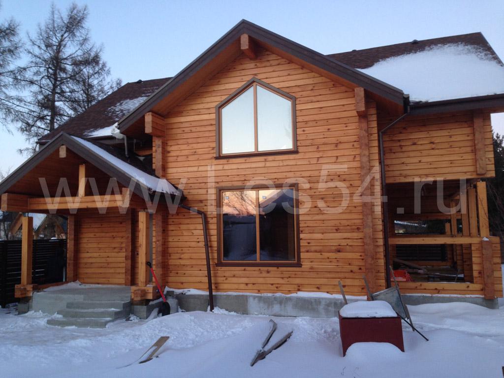 Загородный дом из профилированного бруса сечением 200х220 мм