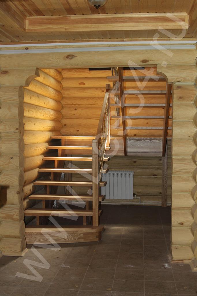 Отделка дома-бани на ул. Золотодолинской в Академгородке из оцилиндрованного бревна д. 240 мм