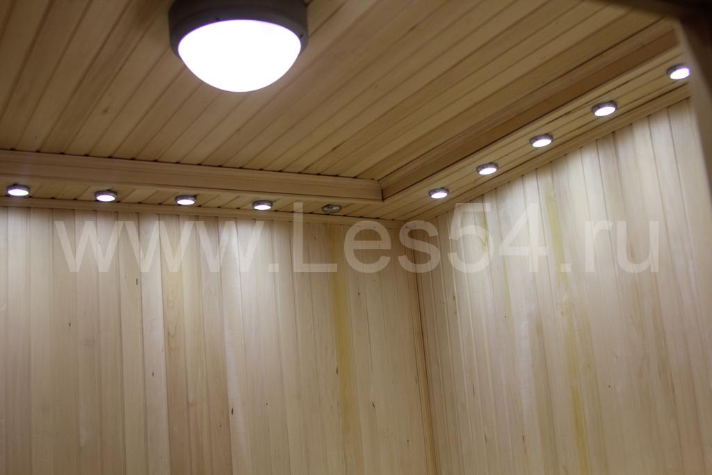 Дом-баня на ул. Золотодолинской в Академгородке из оцилиндрованного бревна д. 240 мм