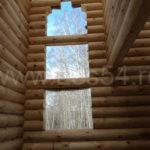 Дом-баня из оцилиндрованного бревна д. 240 мм