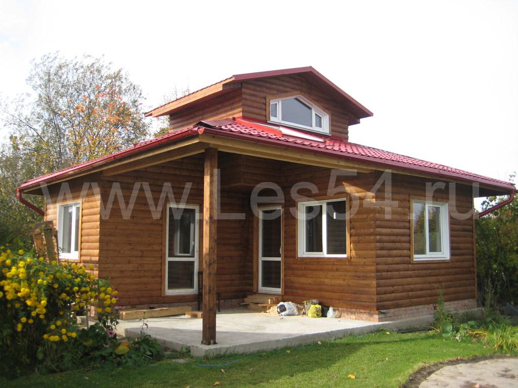 Каркасная дом-баня в Нижней Ельцовке