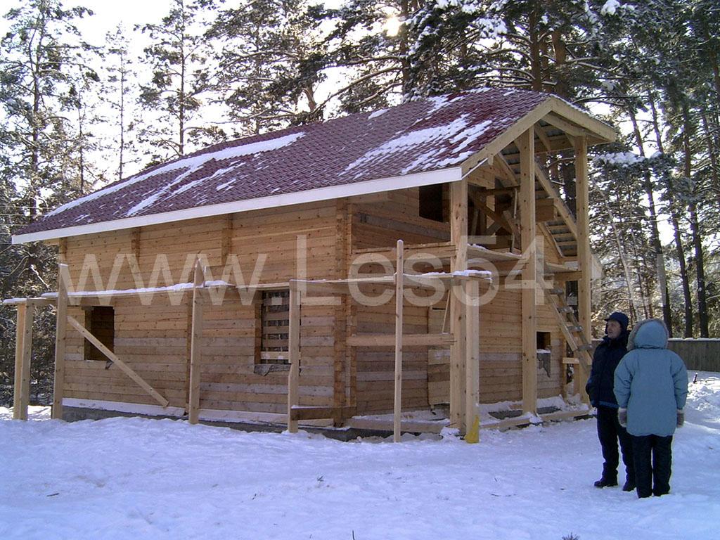 Дом-баня из профилированного бруса сечением 180х180 мм