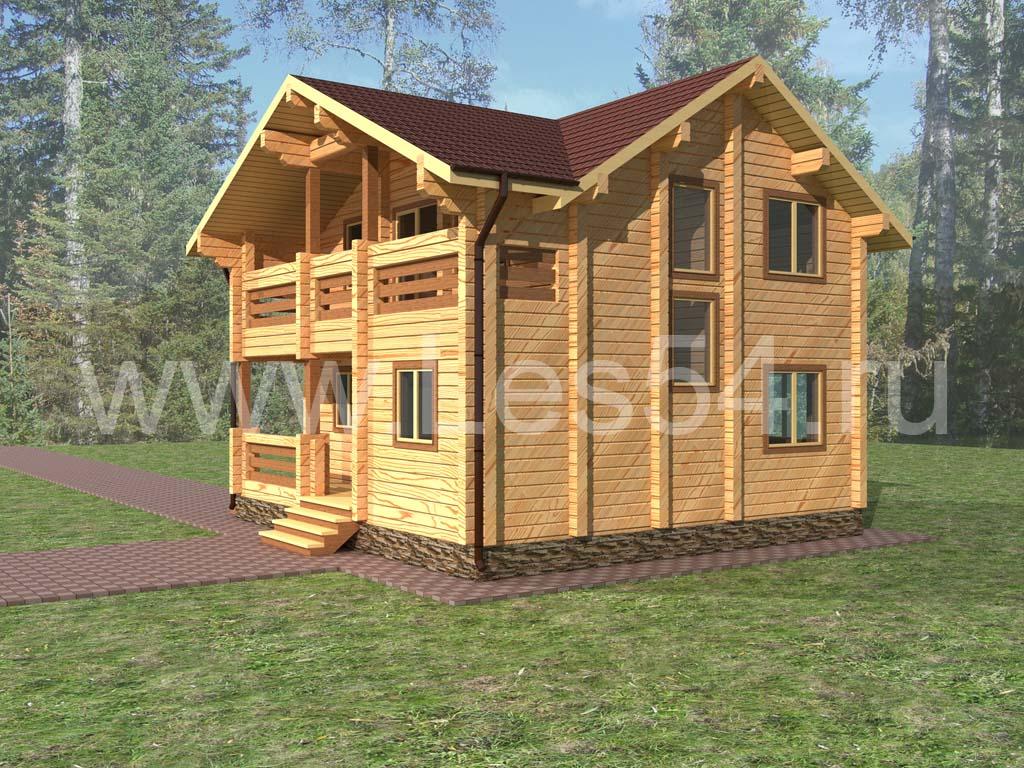 Жилой дом из профилированного бруса сечением 200х200 мм