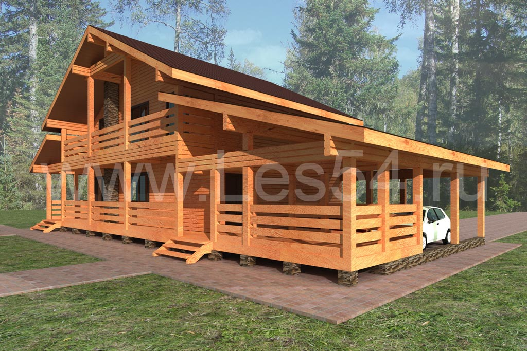 Дачный дом из строганного бруса сечением 150х150 мм