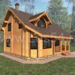 Жилой дом из профилированного бруса (кедр) сечением 190*190 мм